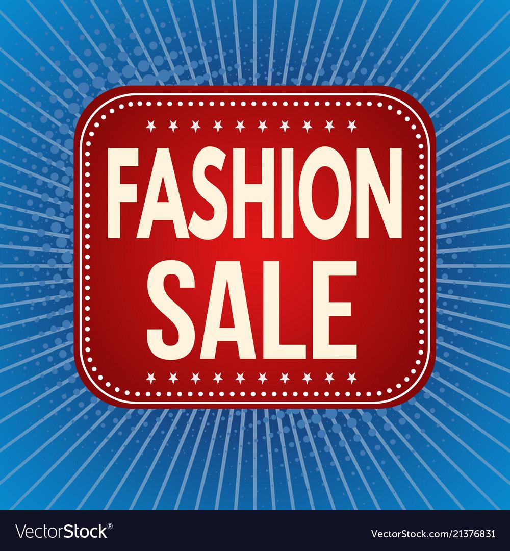 Fashion sale banner or label