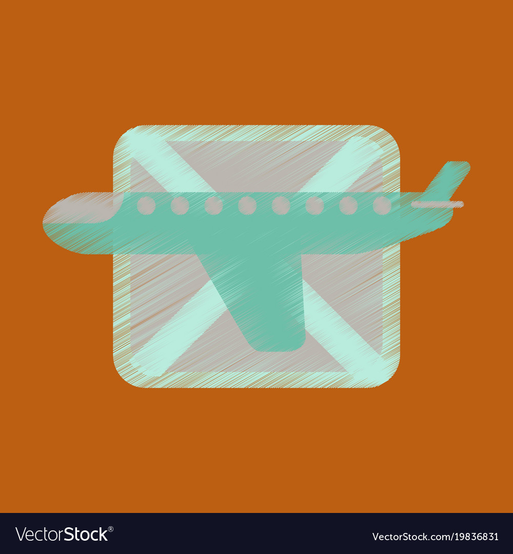 plane icon in in grunge style
