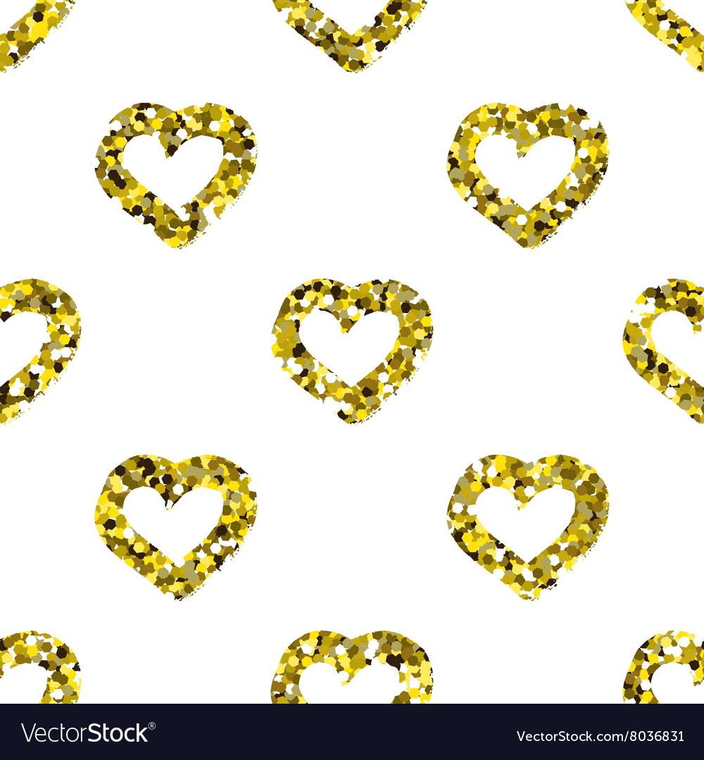 Glitter heart seamless pattern