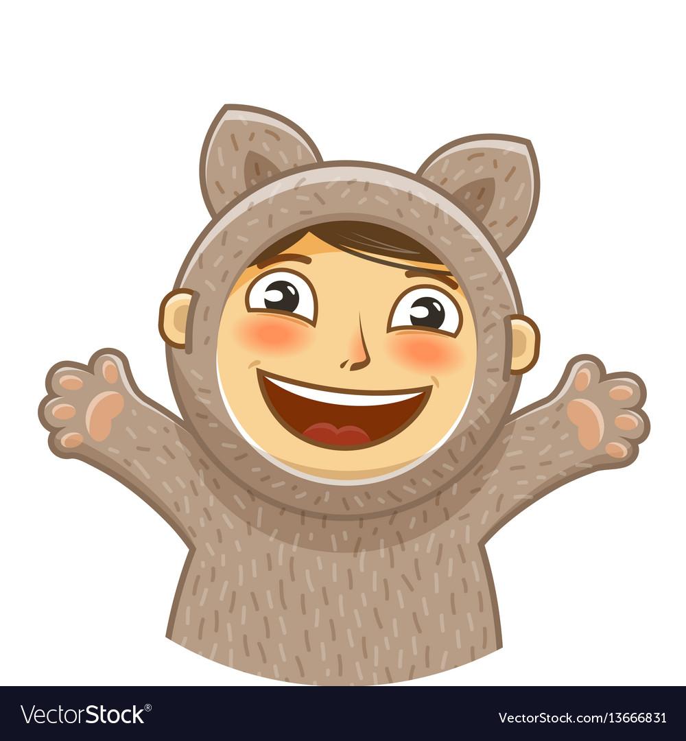 Happy kid childrens party cartoon