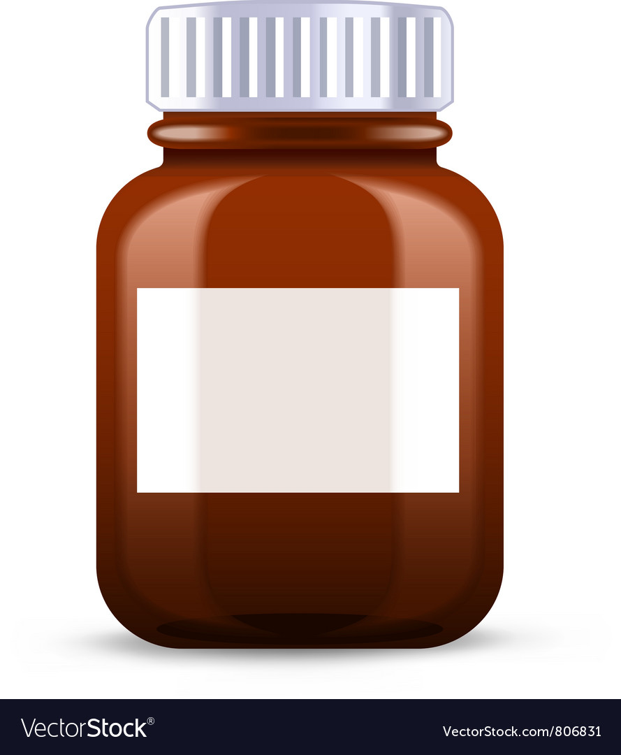 Pills bottle vector image