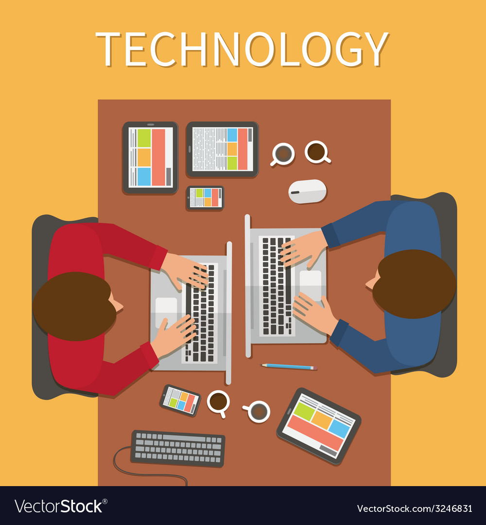 Workplace Office Desk It Technology And Web Design