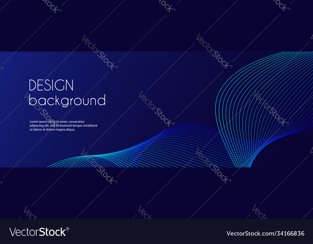 Abstract dark blue banner template minimal