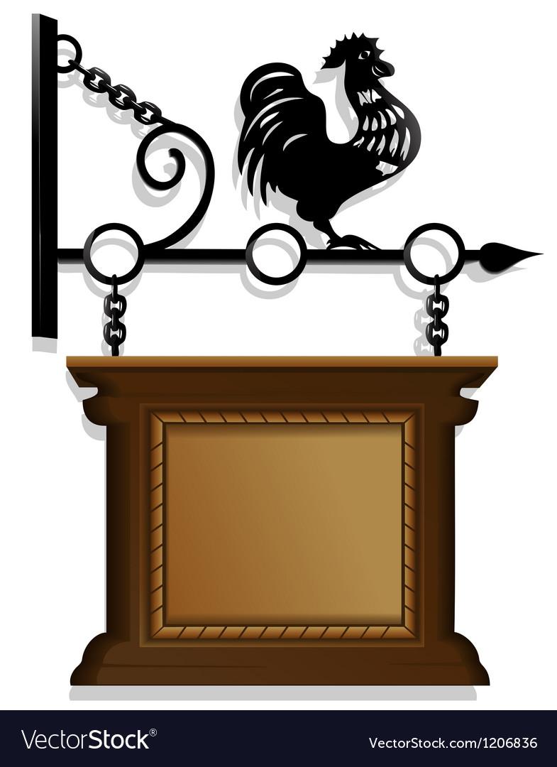 Antique signboard vector image