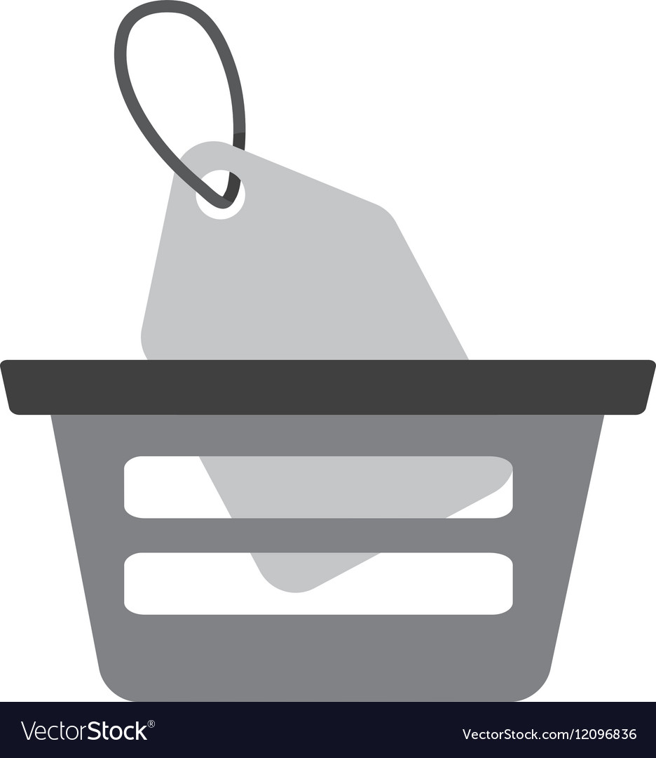Basket buying online price tag gray color