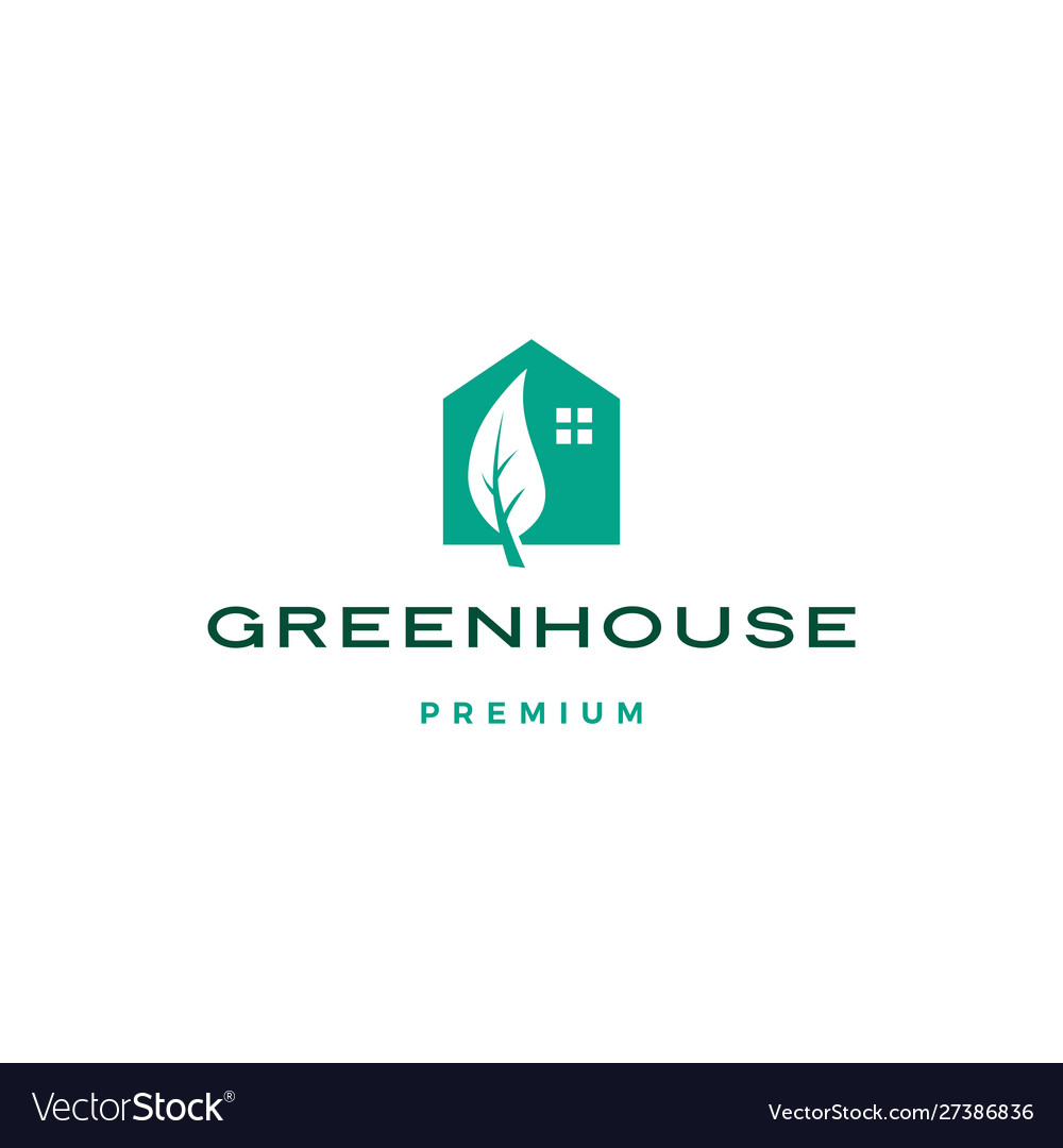 Green house leaf rologo icon