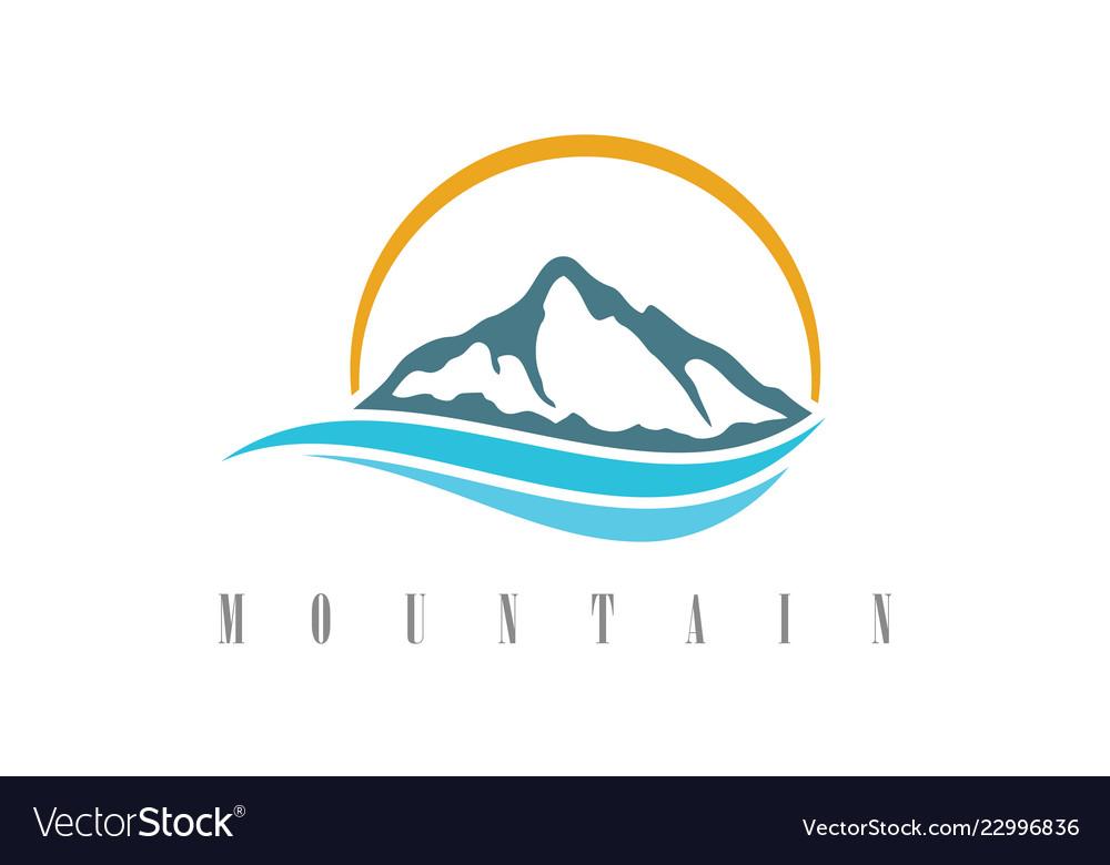 Mountain water logo