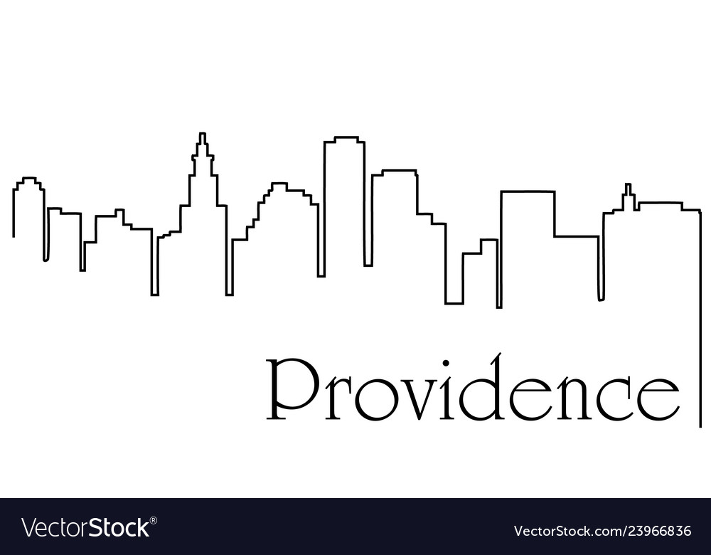 Providence city one line drawing