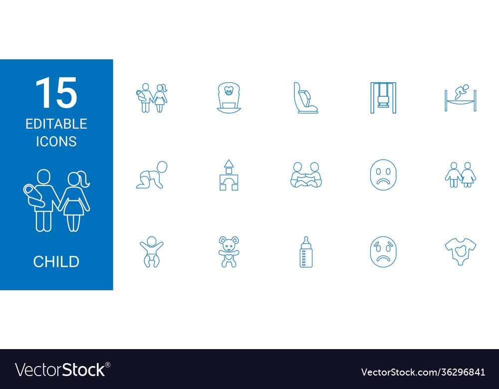 15 child icons