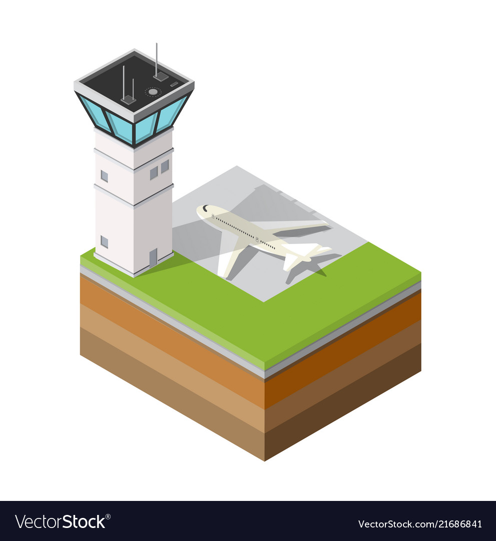 Airport runway control tower