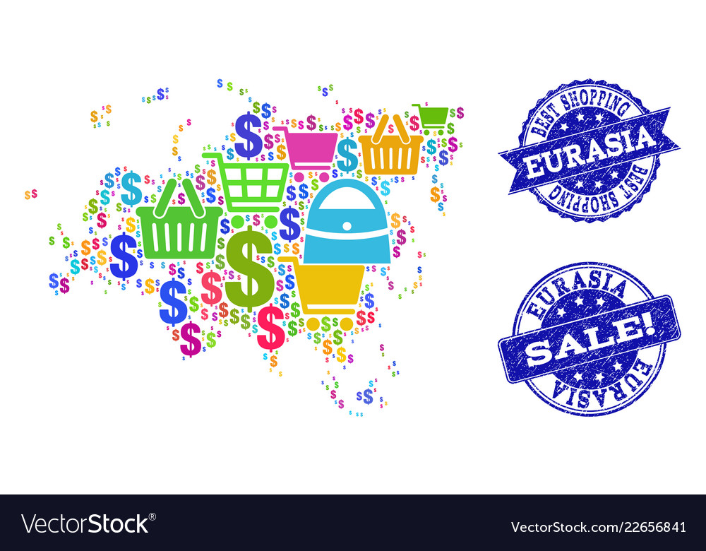 Map Of Europe For Sale.Best Shopping Collage Of Mosaic Map Of Europe And Vector Image