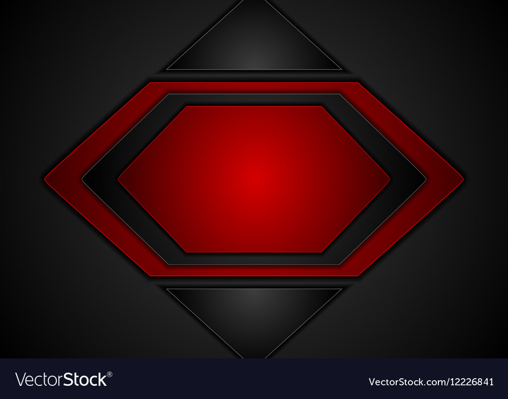 Dark red abstract tech background