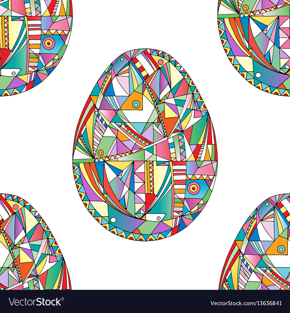 Easter eggs seamless pattern abstract holidays