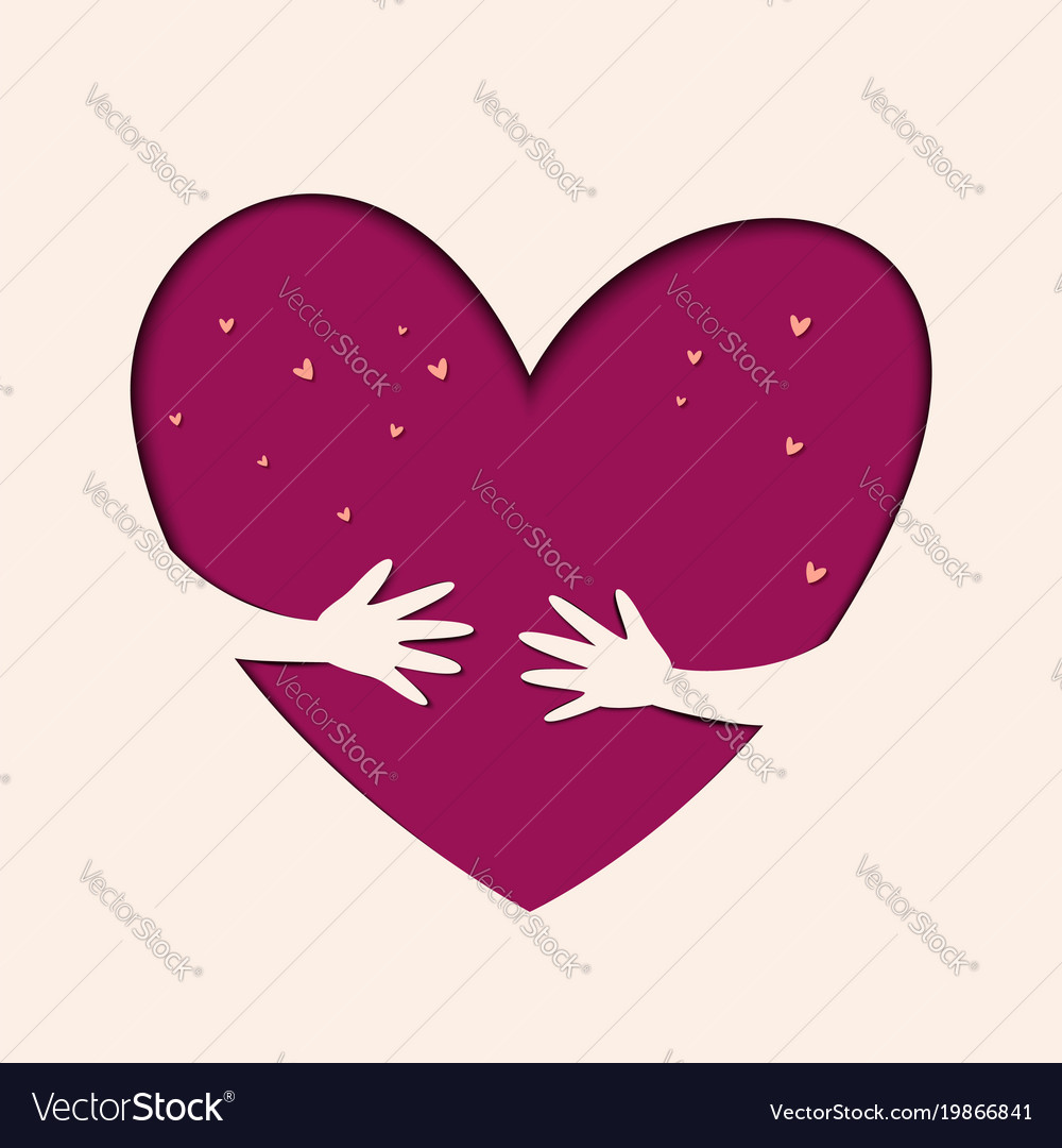Hands hold love save love vector image