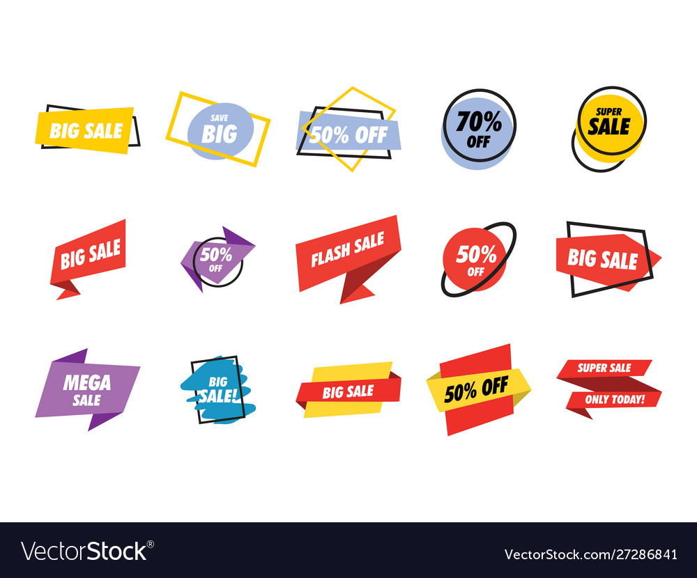Sale banner collection set graphic design template
