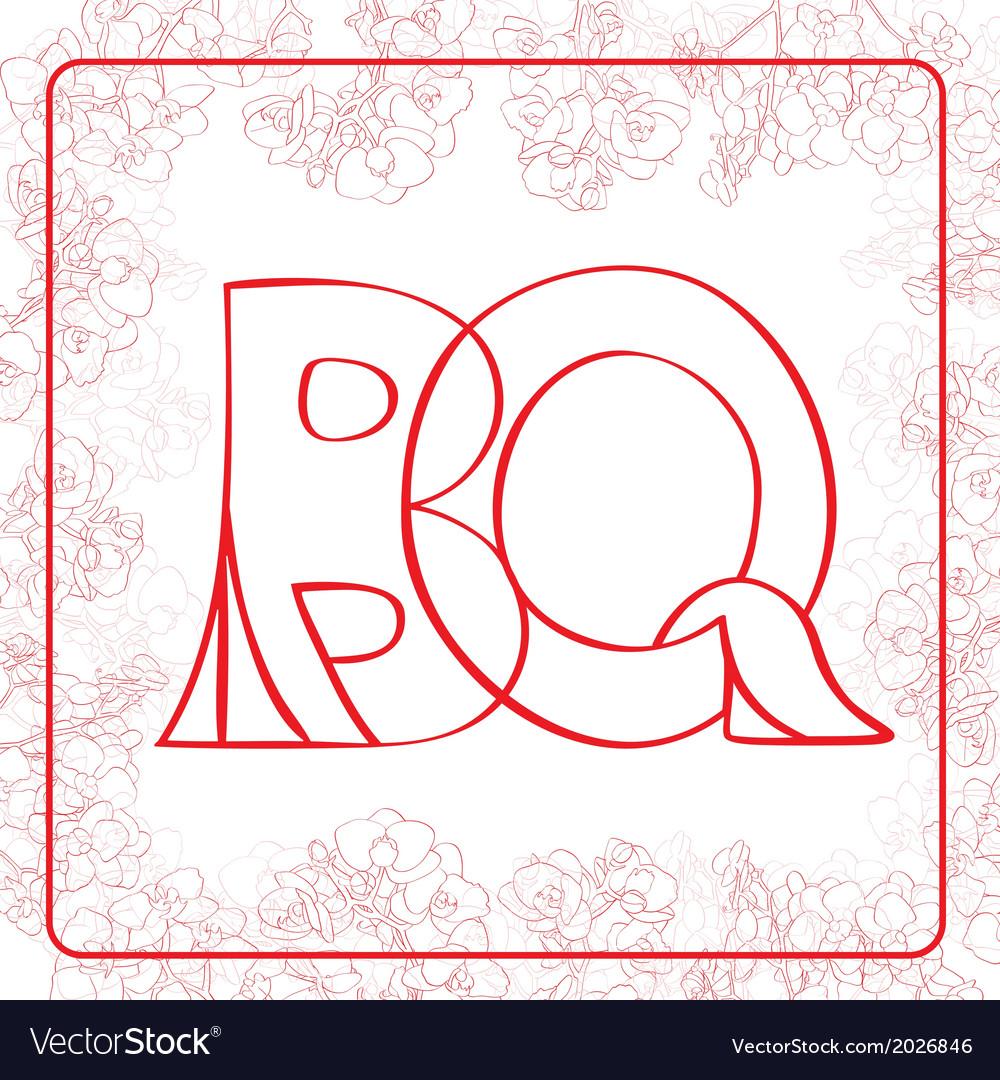 BQ monogram vector image