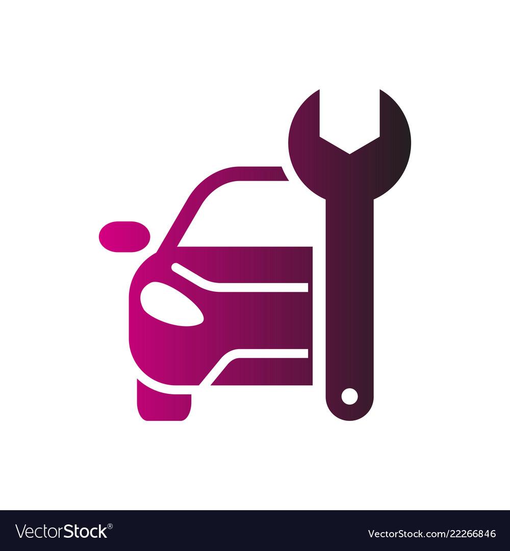 Car repairing logo automotive and