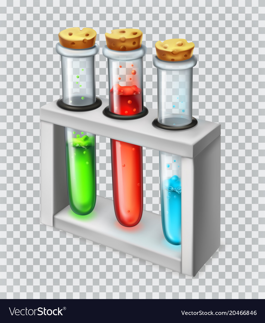Chemical flask test tube 3d icon