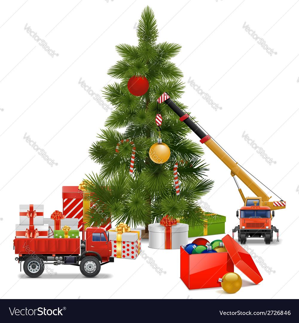 Christmas Workshop vector image