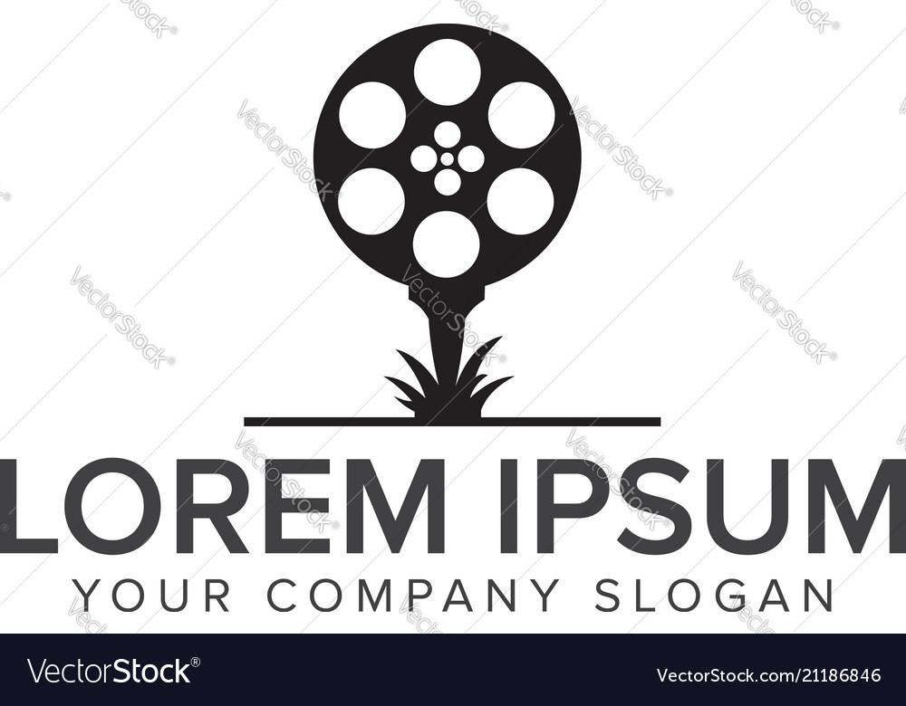 Garden movie film video logo design concept