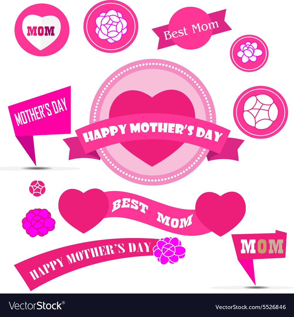 Mother day decoration elements