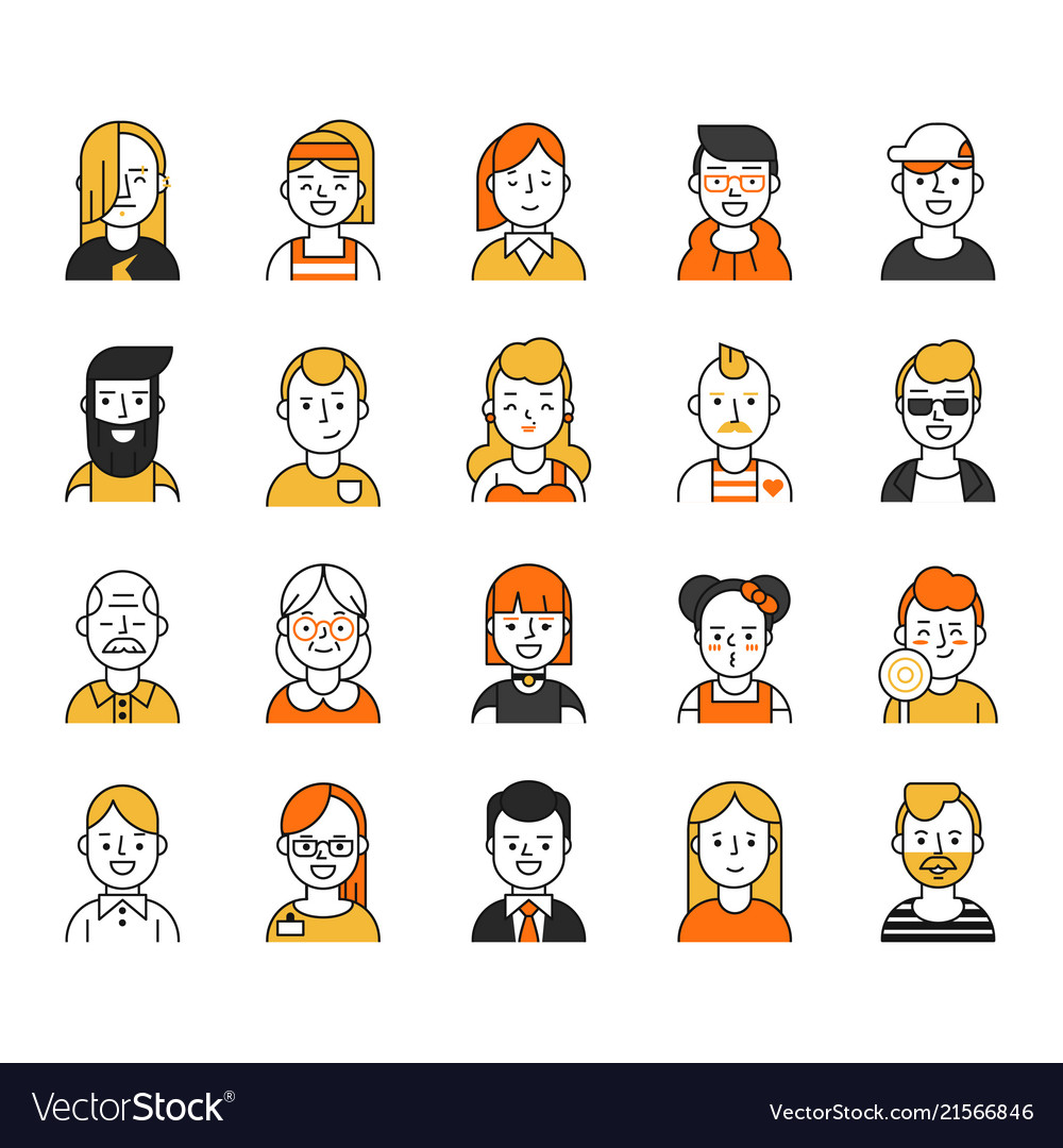 Set of various avatars for web projects