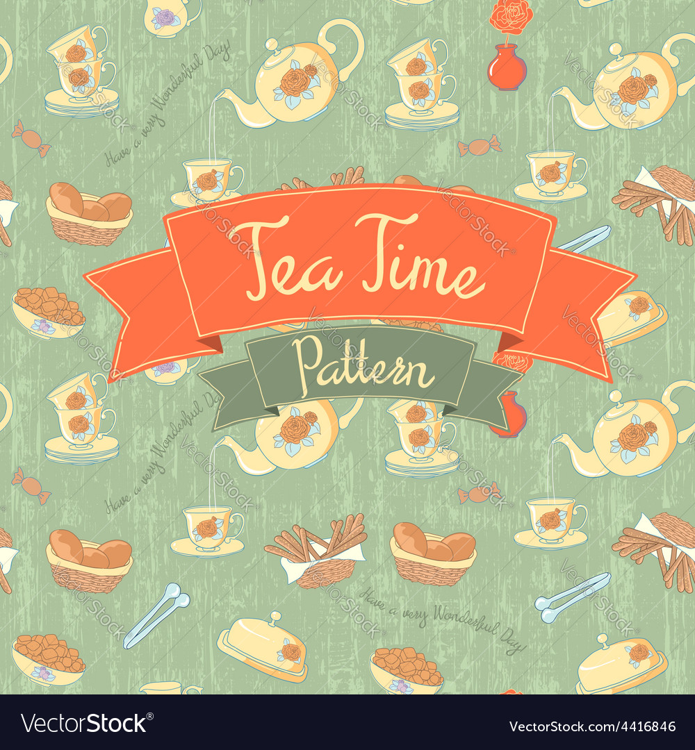 Tea Time Seamless Pattern