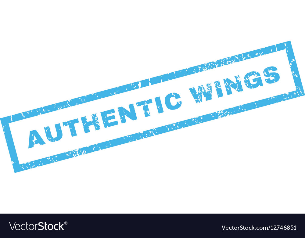 Authentic Wings Rubber Stamp