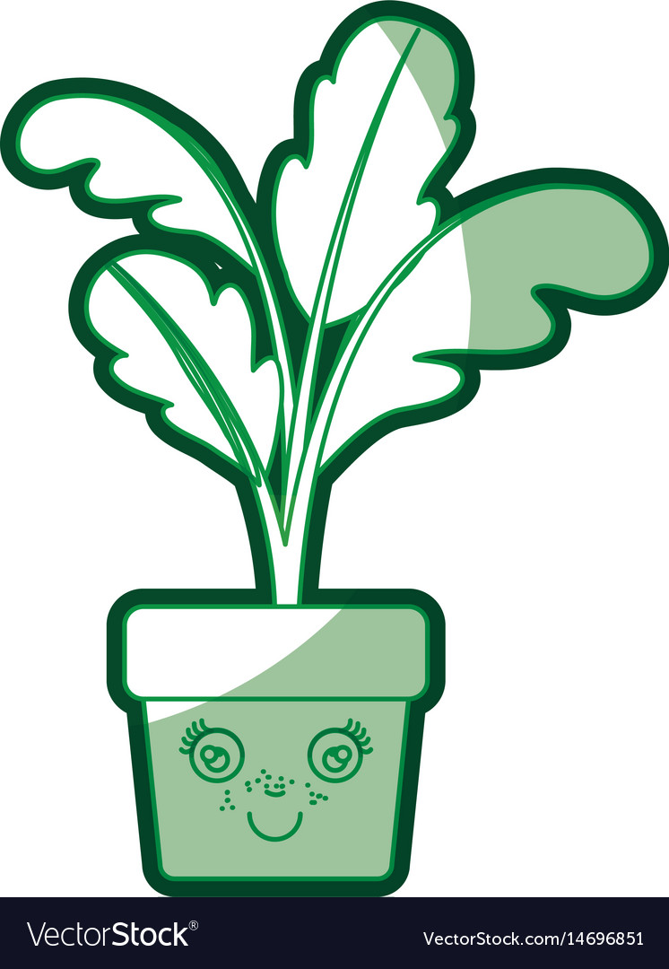 Green silhouette of caricature of beet plant in