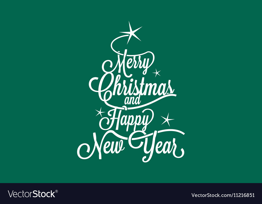 merry christmas and happy new year royalty free vector image vectorstock