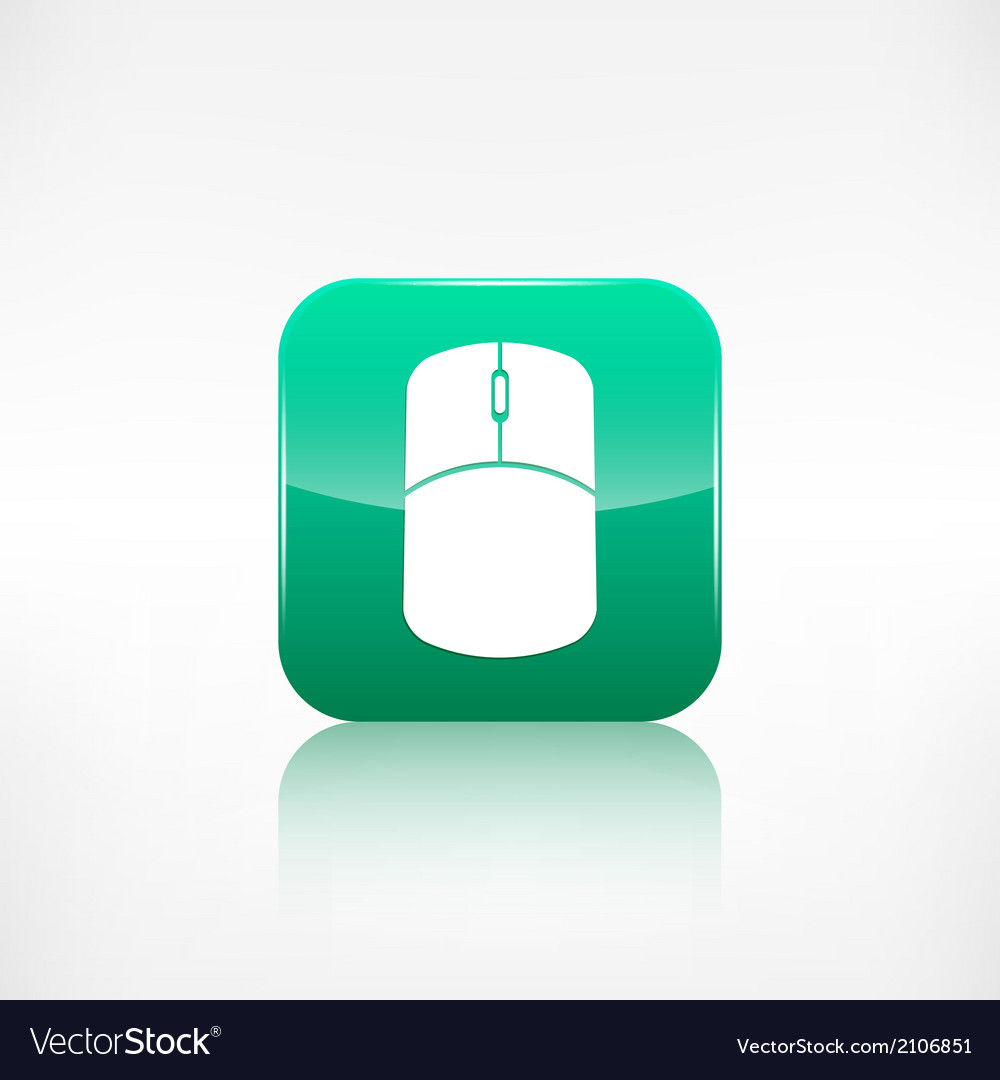 Mouse web icon Application button vector image