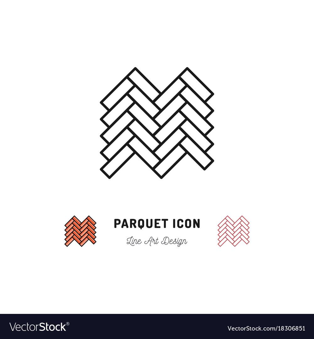 Parquet icon wooden floor symbol thin