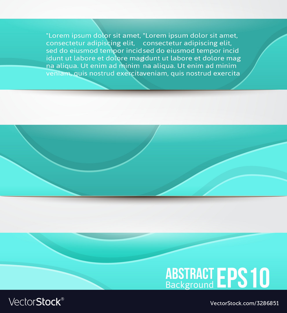 Set of abstract blue banners three background