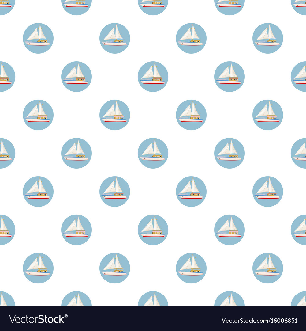 Speed boat with sail pattern