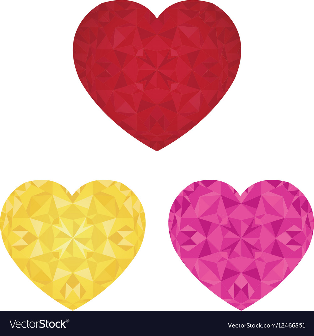 St Valentines Day Crystal Pink Red and vector image