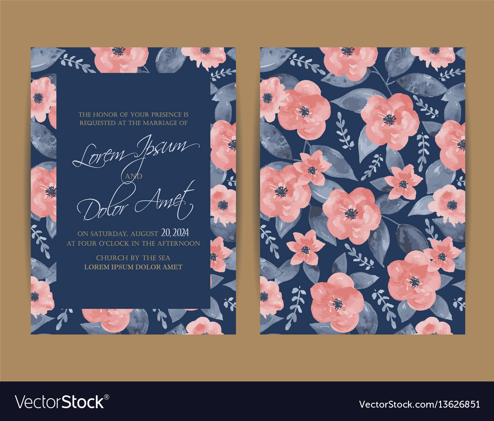 Wedding invitation floral background