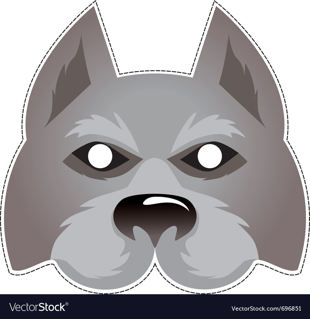 Wolf mask vector image
