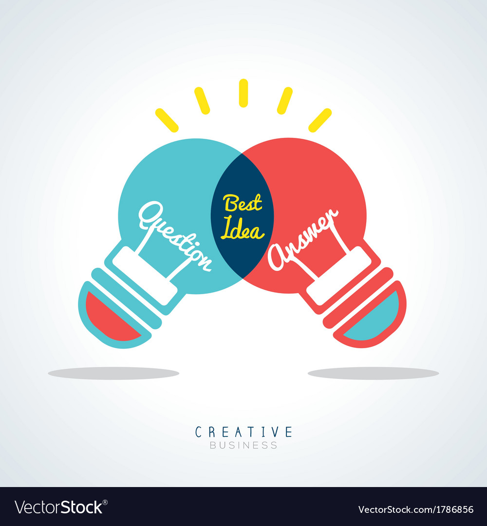 Best Idea Creative light bulb Concept vector image