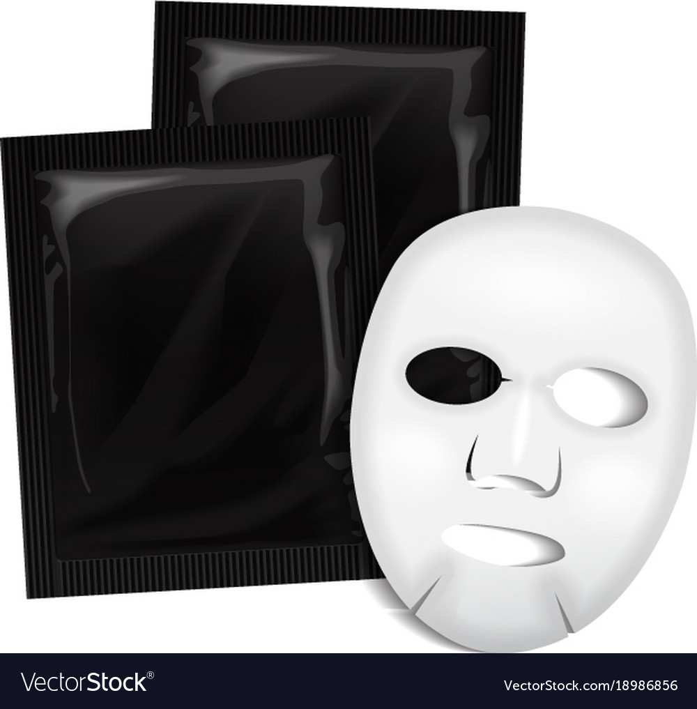 Facial mask black cosmetics package