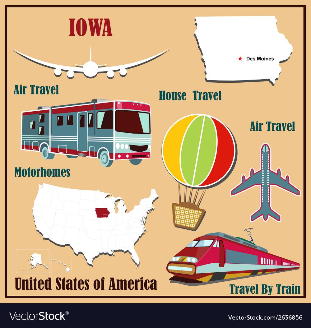 Flat map of Iowa