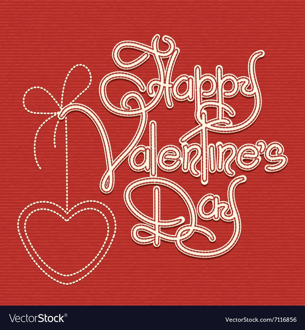 Happy Valentines Day Theme vector image