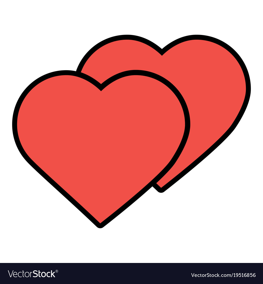 love hearts valentines day symbol royalty free vector image
