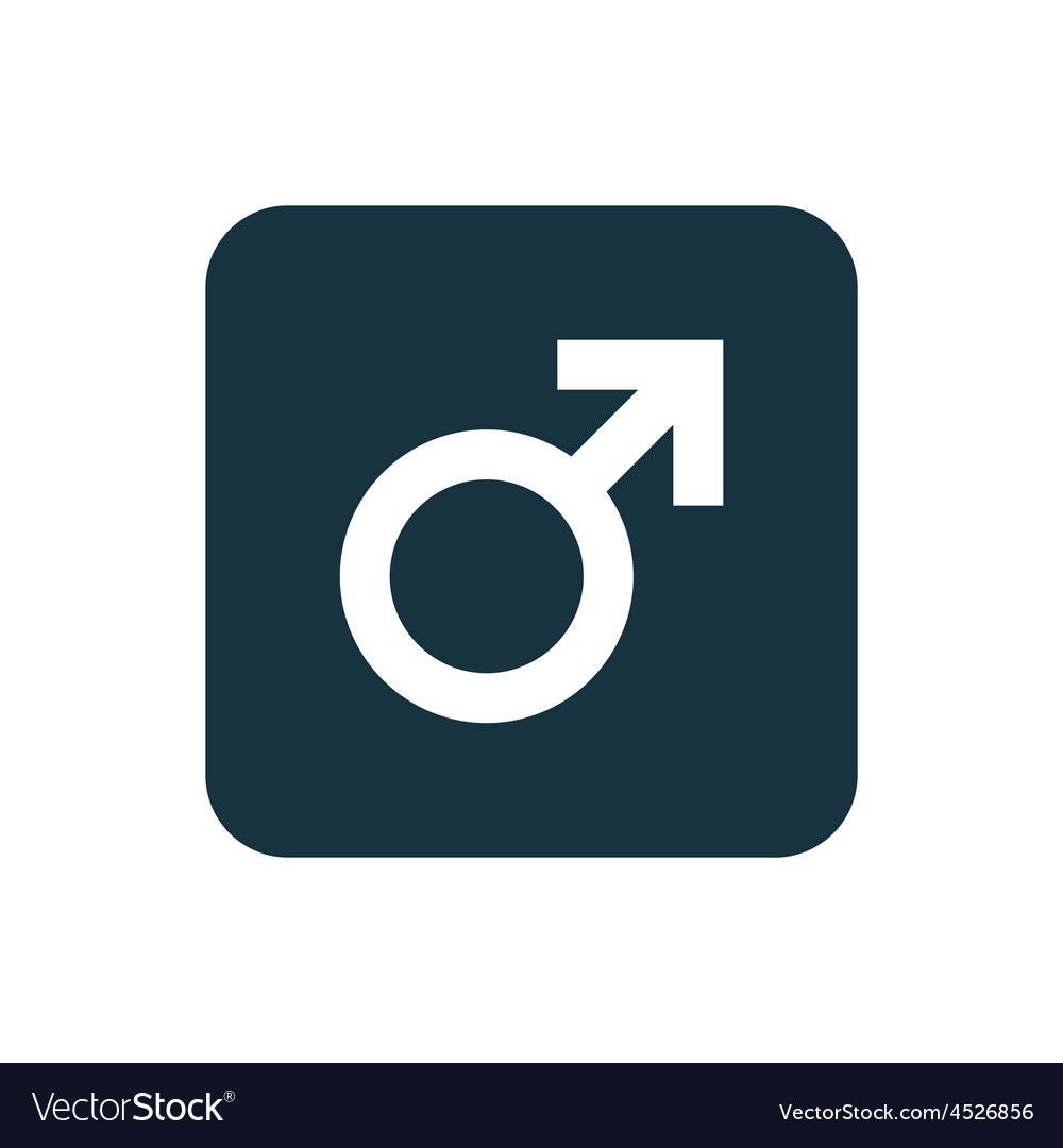 Male symbol icon Rounded squares button