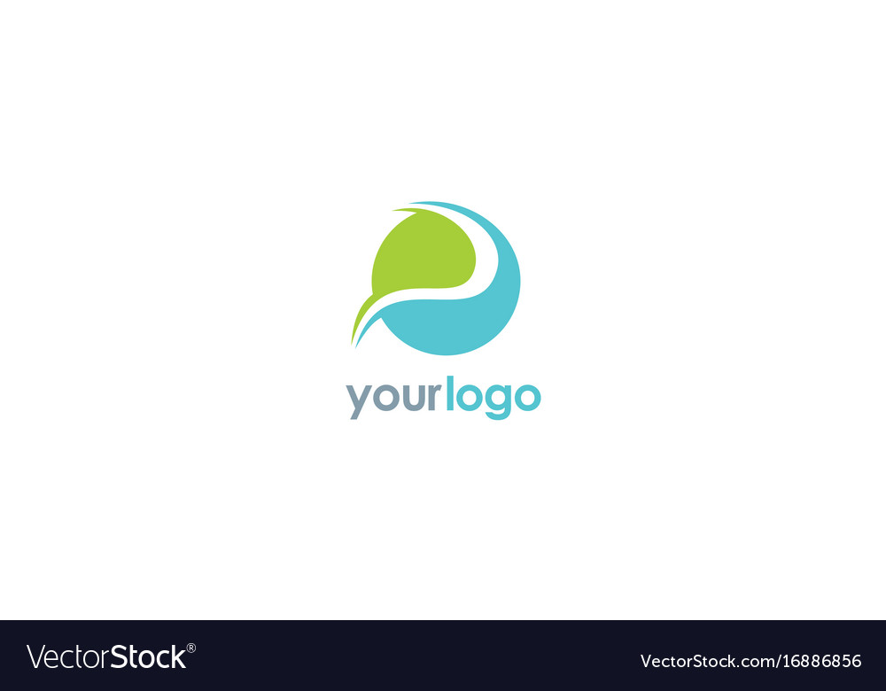 Round abstract ecology logo