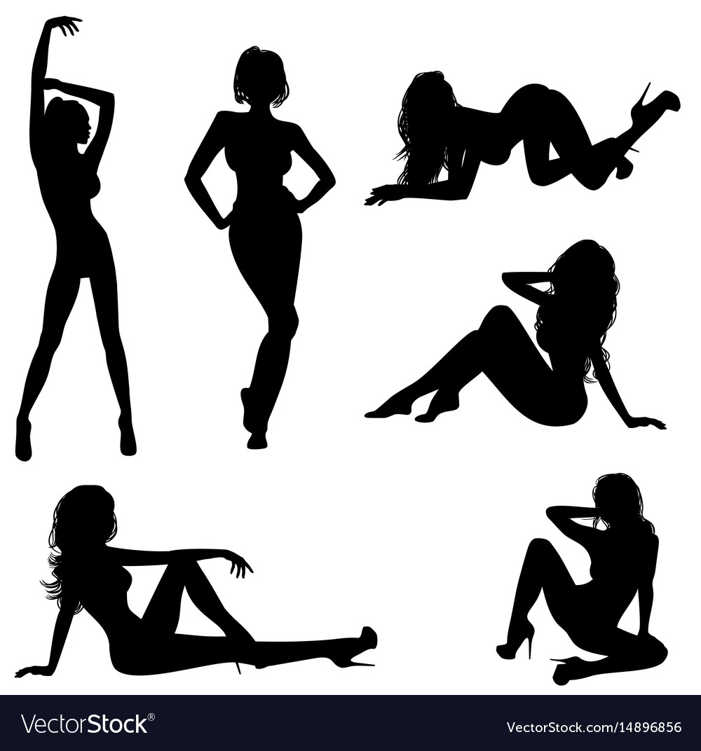 Six sexy girls vector image
