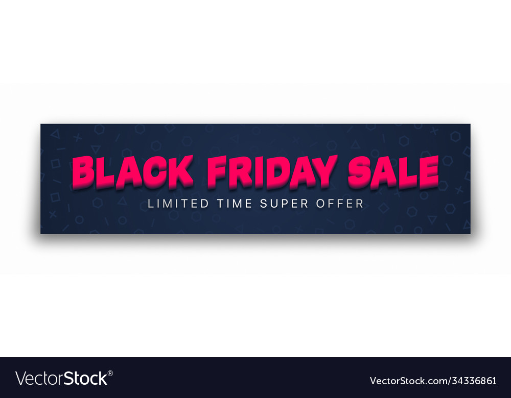 Black friday sale 3d banner typographic bright vector