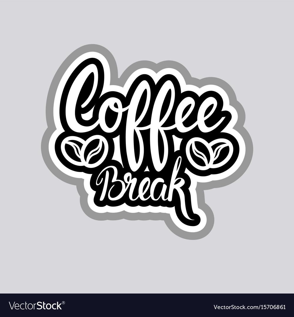 coffee break sticker social media network message vector image. Black Bedroom Furniture Sets. Home Design Ideas