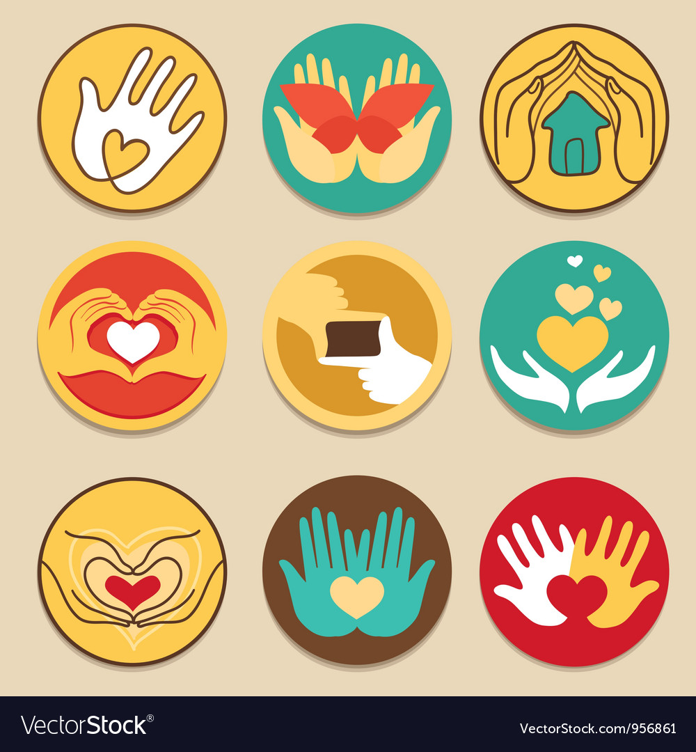 Collection of love signs vector image