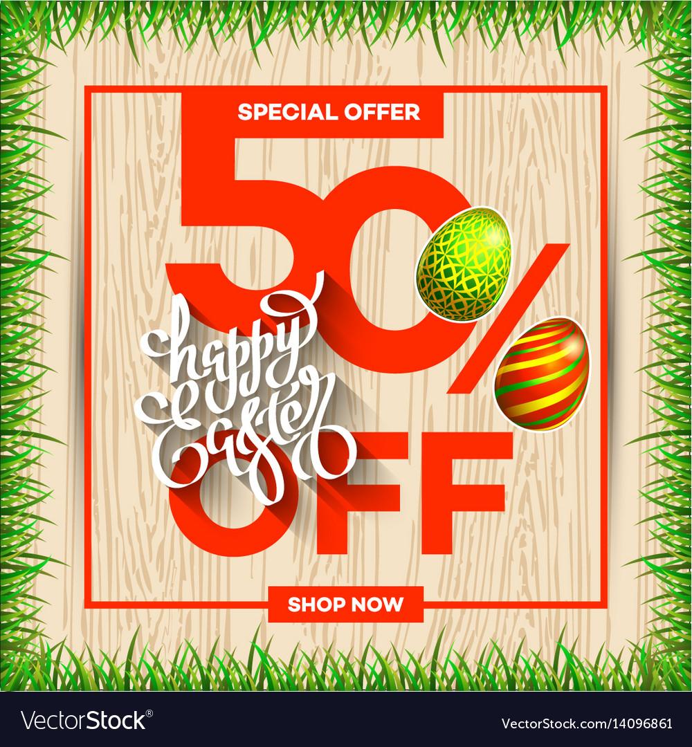 Easter Egg Sale Banner Background Template 29 Vector Image