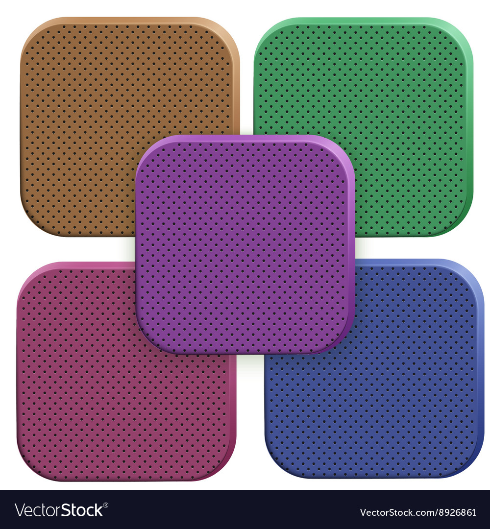 Icons of perforated porous material vector image